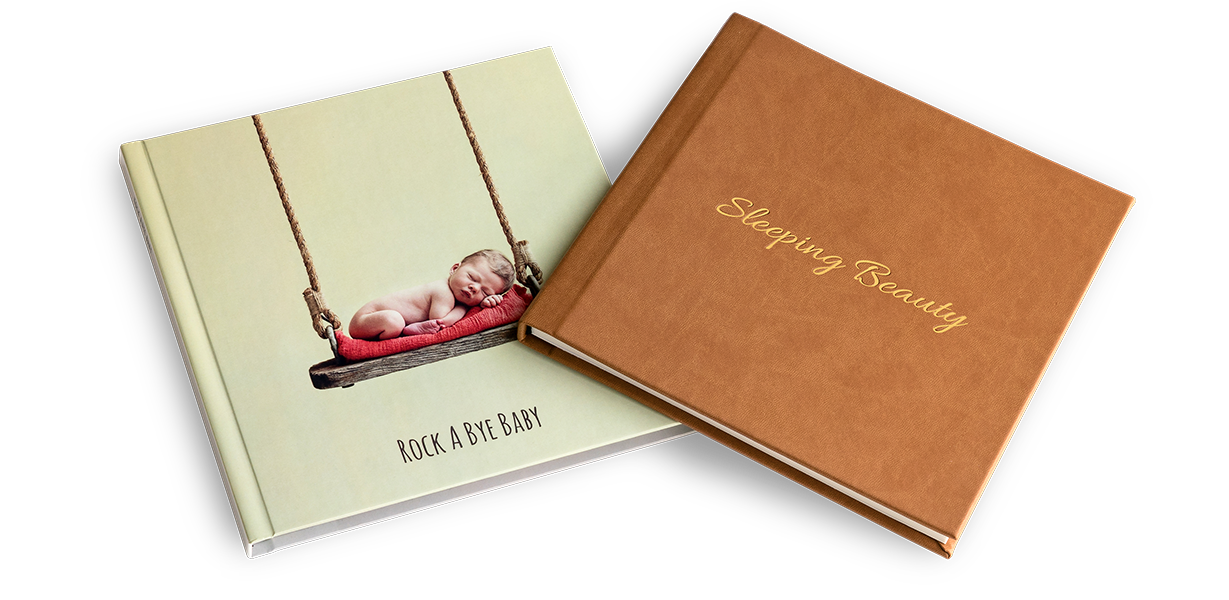 Leatherette or printed cover photo albums