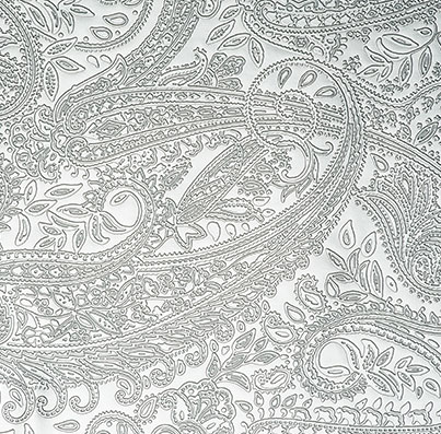 Silver Paisely PU Texture